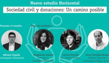 """CEFIS en lanzamiento estudio de Horizontal """"Hacia un sistema de donaciones integrado y pluralista"""""""