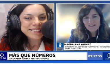 """Magdalena Aninat y Proyecto de Ley de Donaciones: """"abre un nuevo camino"""""""